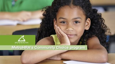 Metro HRA Community Choice program; link to videos of Council programs that promote equity.