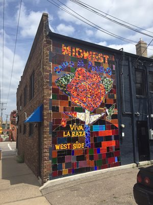 A blank wall is transformed into a mosaic that reflects the community.