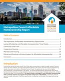Cover photo of Metro Council Affordable Homeownership Report (May 2019)