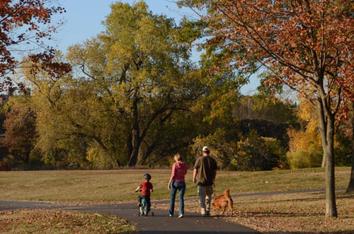 Residents enjoy abundant parks and open space, including the east unit of Battle Creek Regional Park, pictured here.