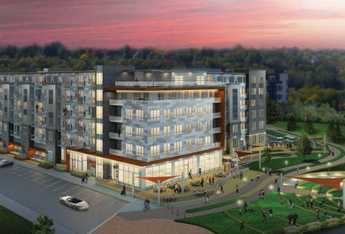 Architectural rendering of West Side Flats, Phase III, in Saint Paul.