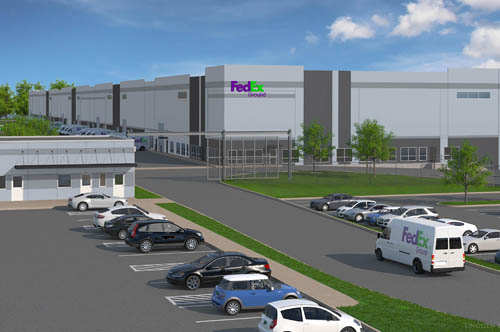 Rendering of Fed Ex campus to be developed in South St. Paul.