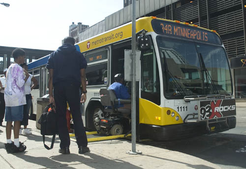 All regular-route Metro Transit buses and trains are accessible to people using wheelchairs.