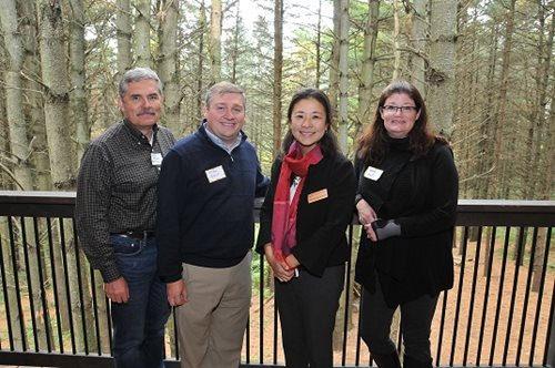 Council member Steven Chavez, Dakota County Commissioner Mike Slavik, Council Chair Alene Tchourumoff, Council member Wendy Wulff.  More about the Chair's mtour of Washington, Dakota and Anoka Counties.