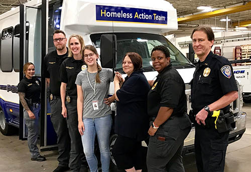 Metro Transit's Homeless Action Team partners with the Council's Metro HRA to find housing for people who shelter on transit.