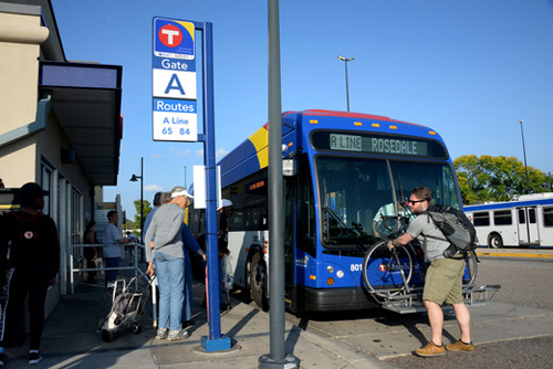 Ridership in the Snelling Avenue corridor is up more than 30 percent since the advent of A Line rapid bus service.