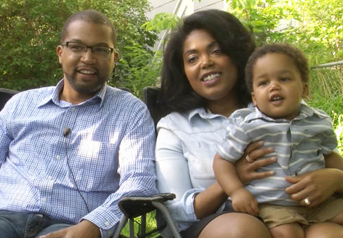Jeremiah and Acooa Ellis live with their son, Asa, in the Summit-University neighborhood. They enjoy a revitalized University Avenue and have noticed that more homeowners in the neighborhood are sprucing up their homes and yards.