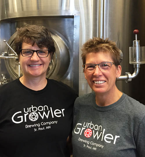 Deb Loch (left) and Jill Pavlak, co-owners of Urban Growler, located near the Raymond Avenue Station.