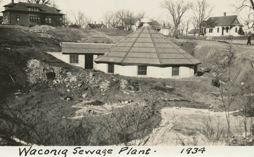 City wastewater treatment plant under construction in Waconia, MN, 1934. (Minnesota Historical Society photo)