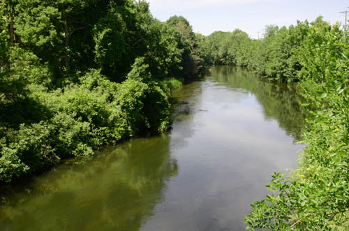 Minnehaha Creek flows out of Lake Minnetonka's Gray's Bay and winds its way through forest, neighborhoods, wetlands and golf courses to the Mississippi River. Pictured here is a stretch near Minnehaha Falls adjacent to where the sewer improvement project will take place.