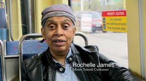 Rochelle James, Metro Transit Customer. Link to more information and a video interview.