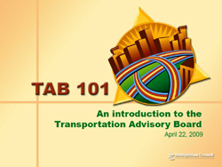 Introduction to the Transportation Advisory Board