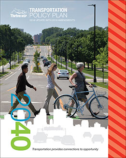 Transportation Policy Plan Summary Cover and link.
