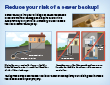 Reduce your risk of a sewer backup! pdf example image