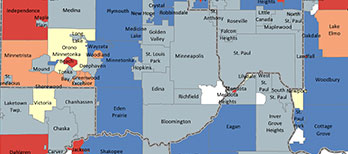 Data and Maps - Metropolitan Council Data On Map on