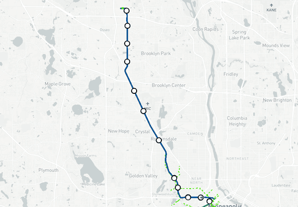 Blue Line Extension Construction Map