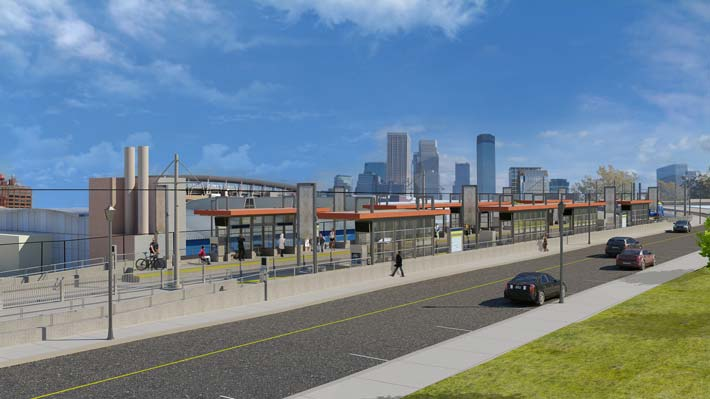 Station design rendering