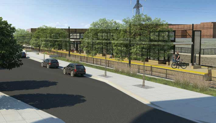 Town Center Station design rendering