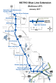 METRO Blue Line Extension route map