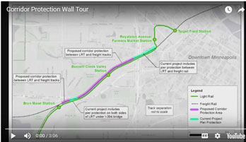 Proposed corridor protection wall video