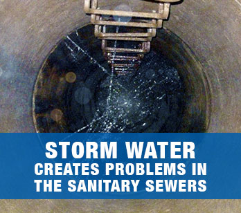 LINK: How storm water affects the sanitary sewers.