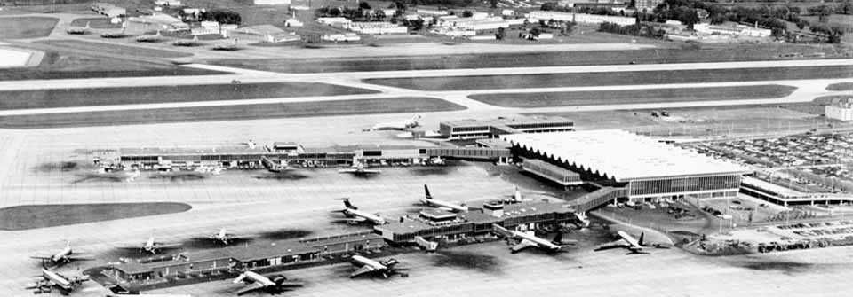 Historical photo of MSP airport.